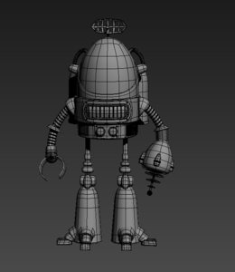 3D model robot android