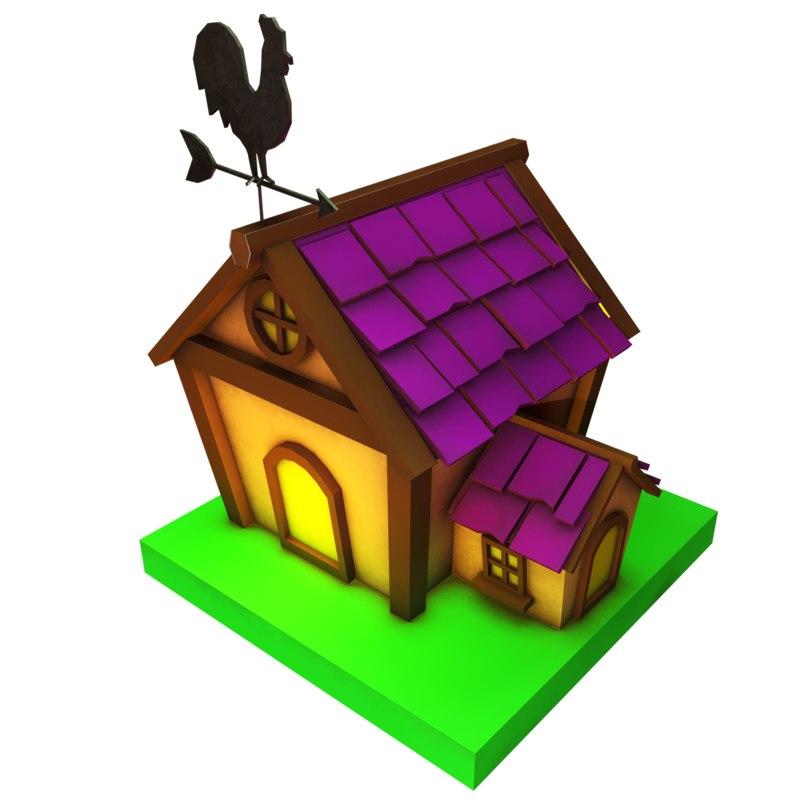 3D cartoon fantasy house