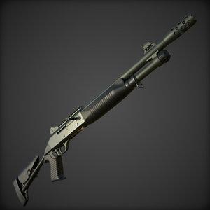 realistic benelli m4 tactical 3D