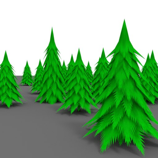 3D pine tree cartoon