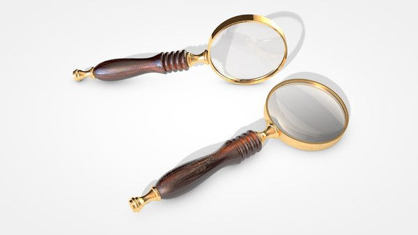 antique magnifying glass 3D model
