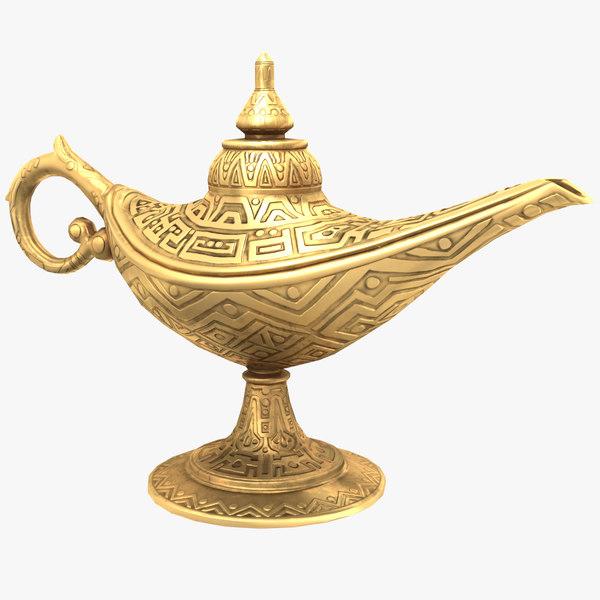 aladdin magic lamp vintage 3D model