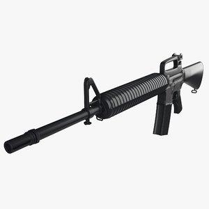 colt m16a2 combat rifle 3D model