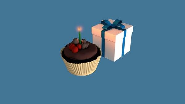 3D git box cake model