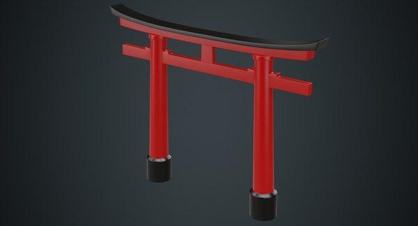 3D model torii gate 1a
