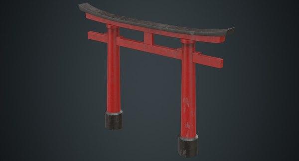 torii gate 1b model