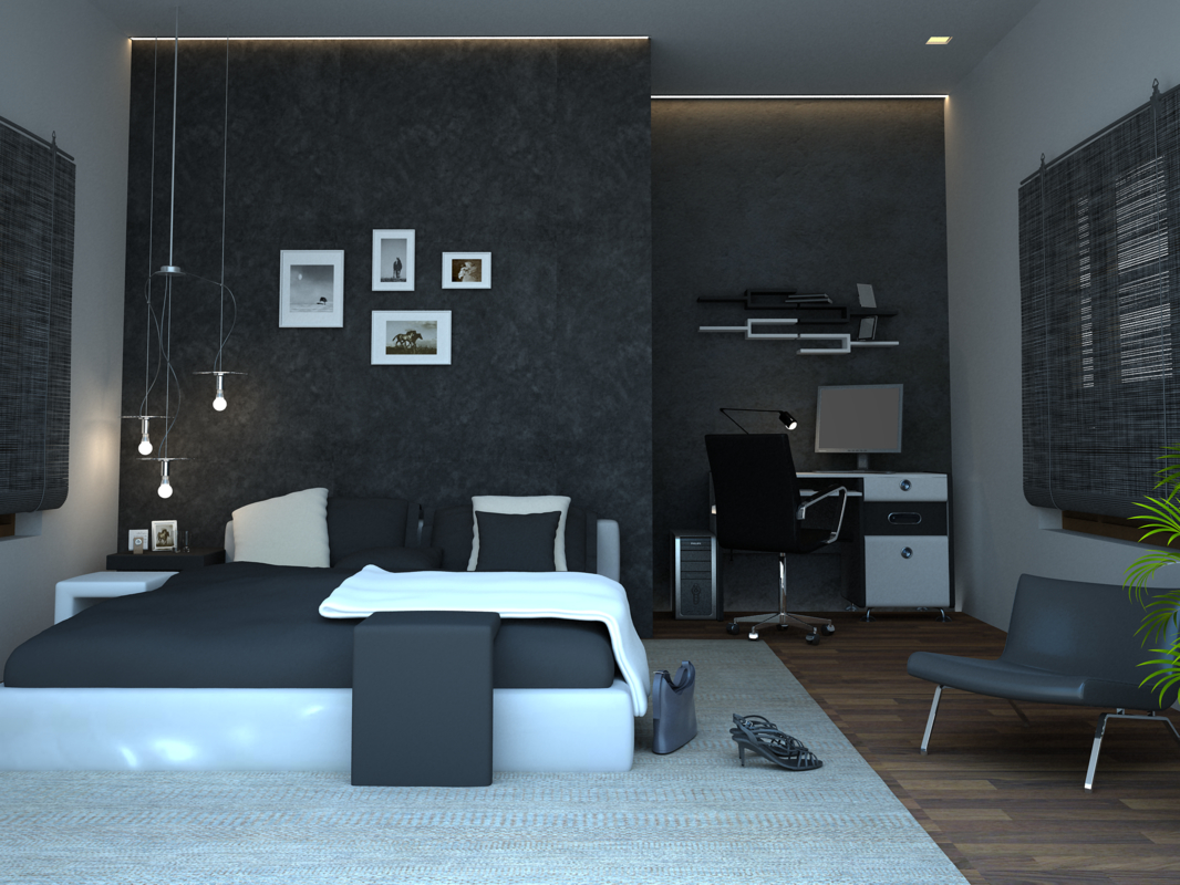designing bed room 3D model