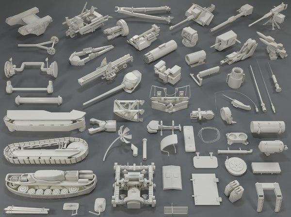 3D model tank parts - 60