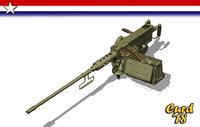 3D m2 50 machine gun