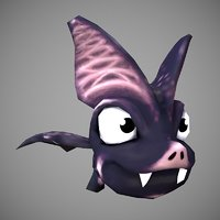 microbat cartoon 3D model