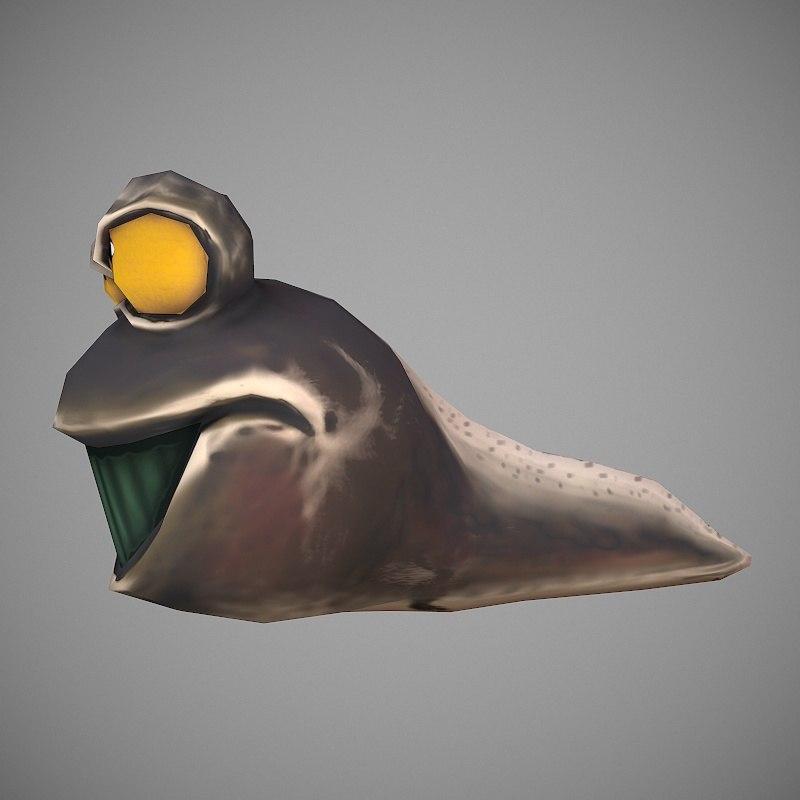 tadpole cartoon 3D model