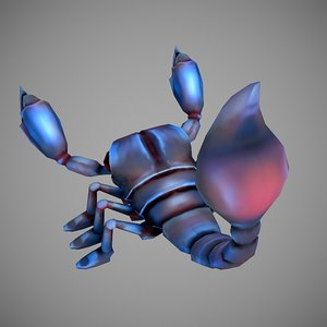 3D scorpion cartoon model