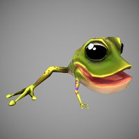cartoon frog 3D