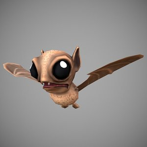 3D bat cartoon