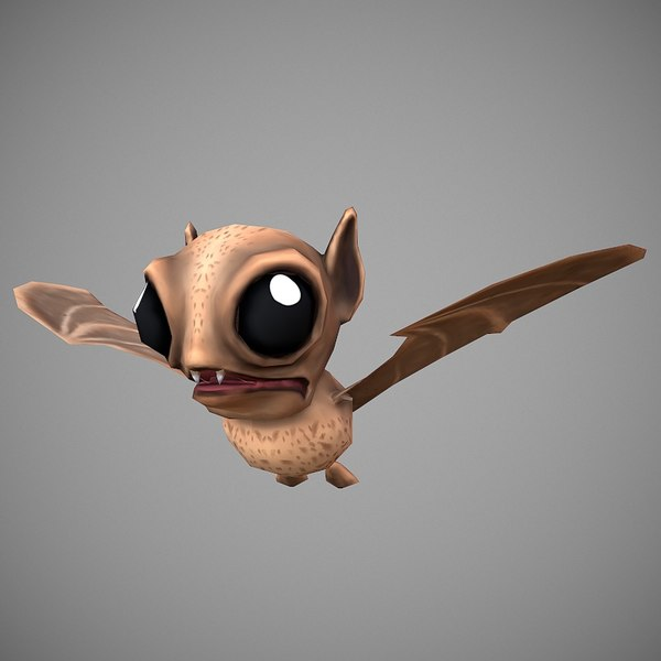 3D bat cartoon