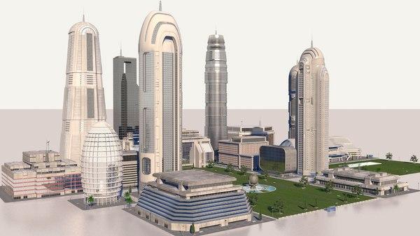 Future City 3D Models for Download | TurboSquid