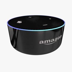 amazon echo dot 3D model
