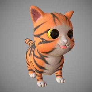katty cartoon cat model