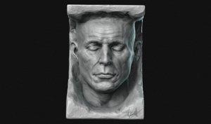 3D man stone rock model
