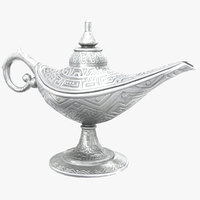 Aladdin Magic Lamp Vintage Silver