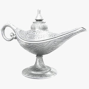 3D model aladdin magic lamp vintage