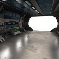 Scifi Interior Textured