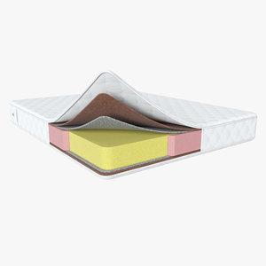 layered mattress 3D model