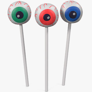 eyeball cake pops 3D