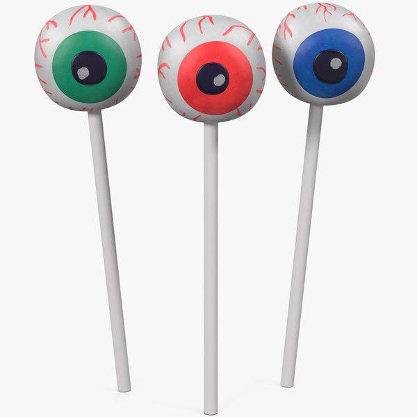 eyeball cake pops 3D