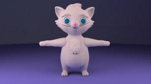 cat advance skeleton 3D model