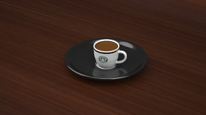 starbucks caffe cup model