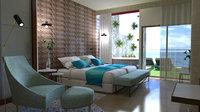 interior apartment hotel scene 3D model