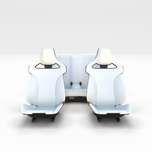 tesla roadster seats 3D model