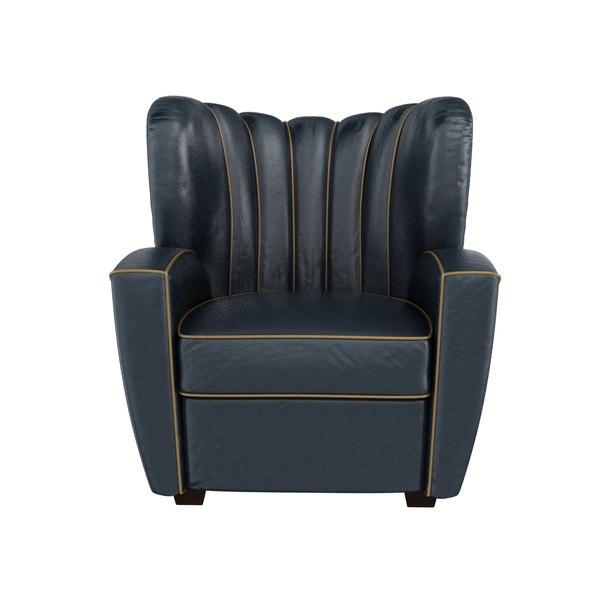 zarina armchair designed cesare 3D model