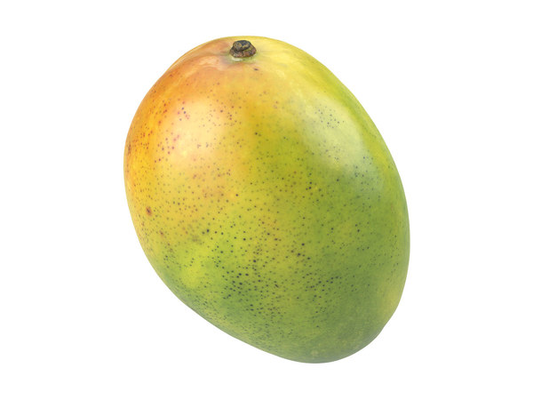 photorealistic scanned mango 3D model