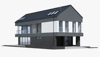 3D model house building home