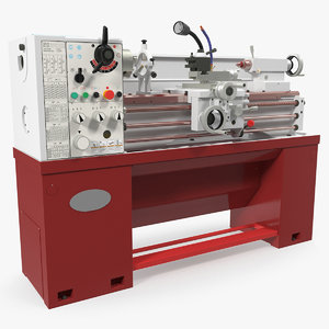 heavy duty lathe machine 3D model