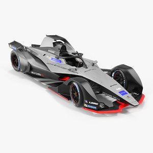 formula e nissan edams 3D model