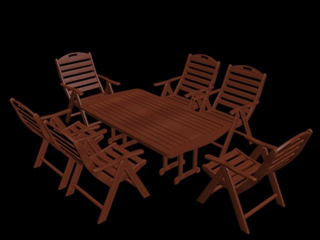 3D coffee table set