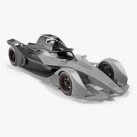3D model formula e car generic