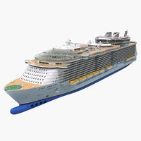 3D cruise ship oasis seas model
