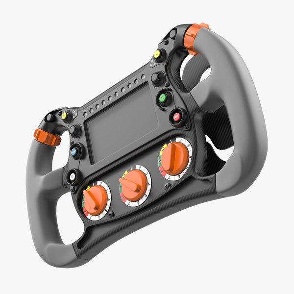3D formula e steering wheel