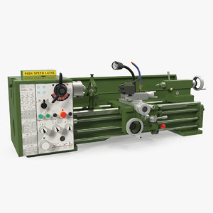3D metal lathe machine generic model