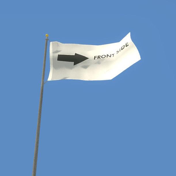 3D loop flagpole flag collution