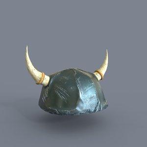 old war helmet 3D model