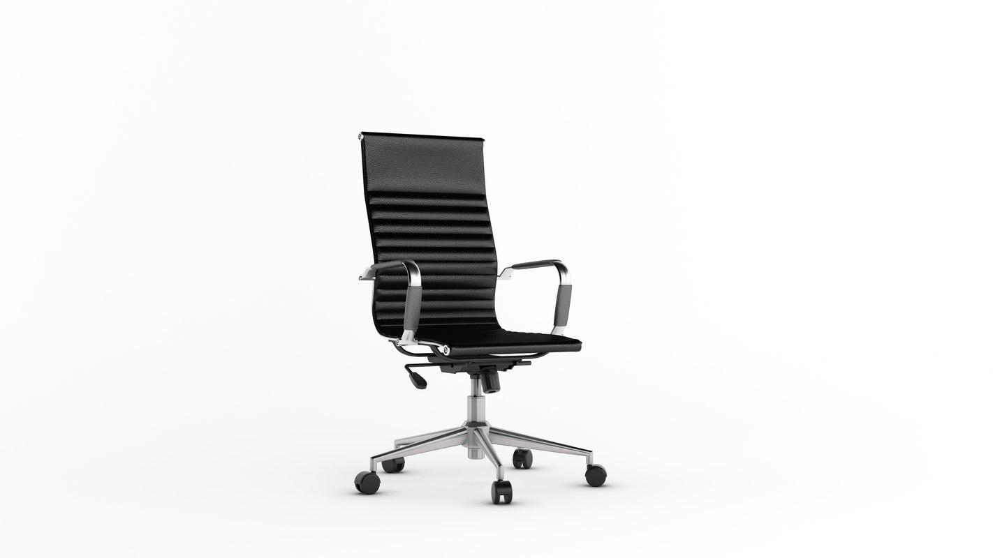 3D alluminium chair designer model