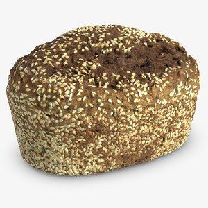 bread modeled v-ray model