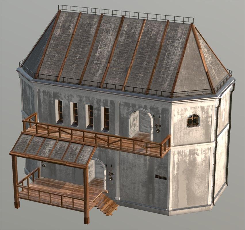 3D fantasy house medieval model