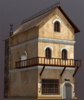 fantasy house medieval model