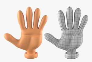 hand basemesh cartoon character 3D model